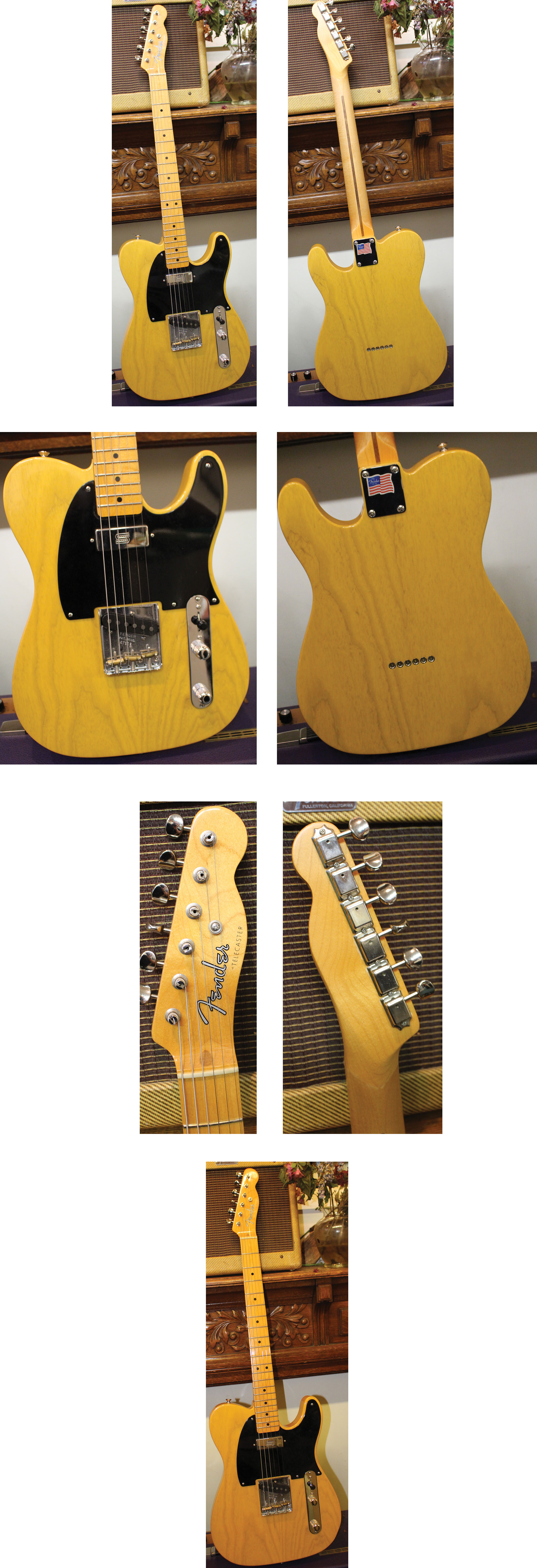 171b6ce4b9e $2795 *FENDER American Vintage Hot Rod 1952 Telecaster, recent, Ash body  with nitrocellulose lacquer butterscotch finish, Blackguard, Seymour Duncan  custom ...