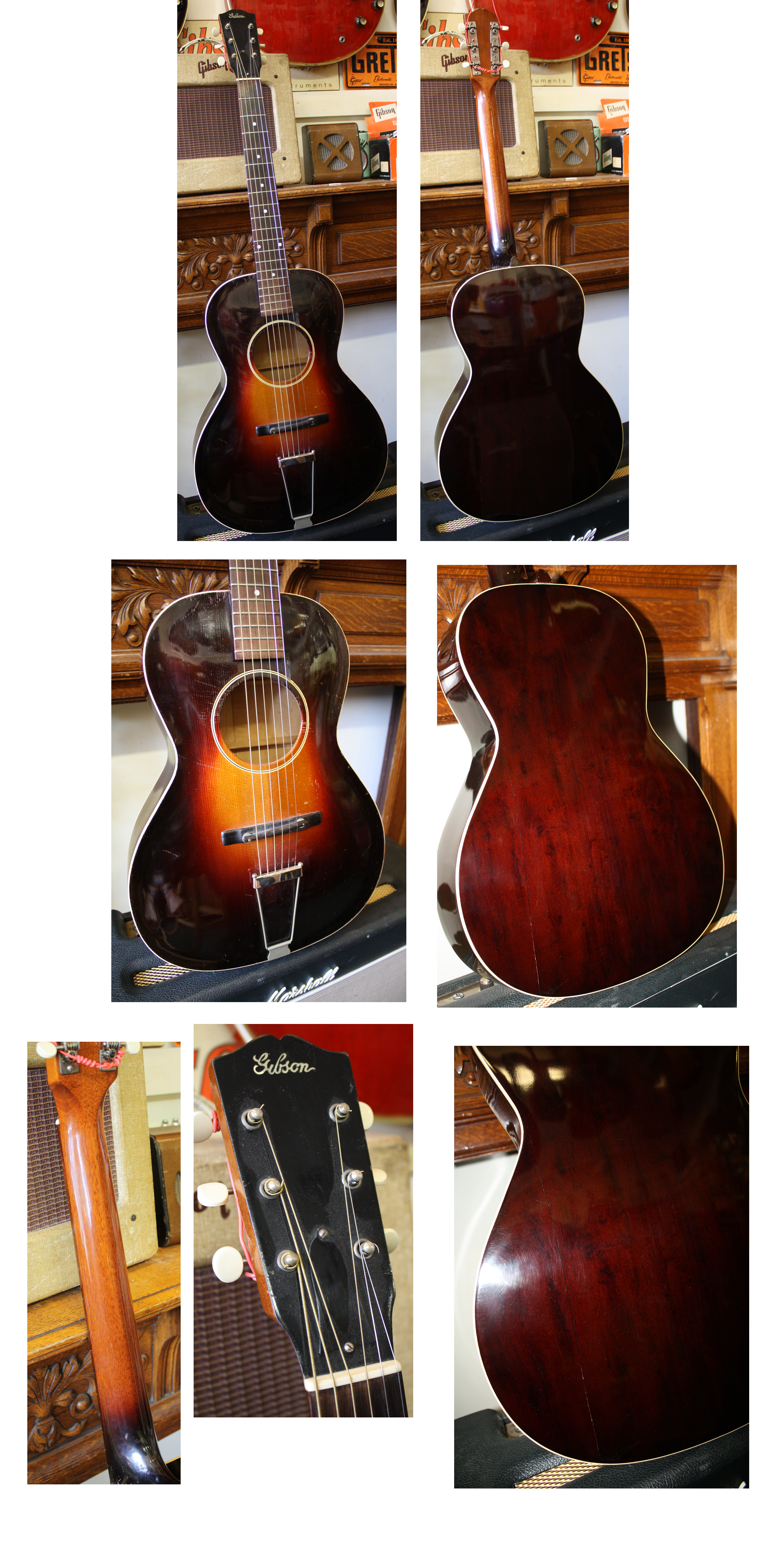 Acoustic Guitars Guitars & Basses Modest Gibson L-50 Matching In Colour